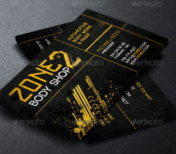 Auto Body Shop Business Card Template