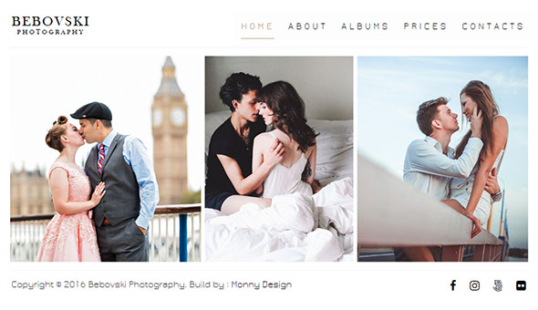 Bebovski Photography - Modern HTML Site Template for Photography