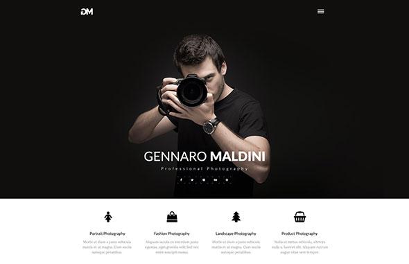 Gennaro Maldini Photography HTML Template