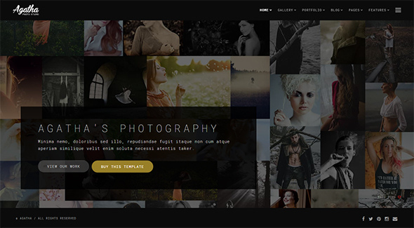 Agatha - Photography Portfolio Website Template