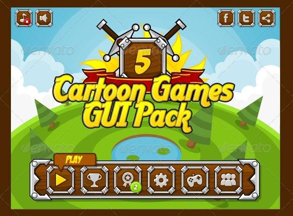 Cartoon Games GUI Pack 5