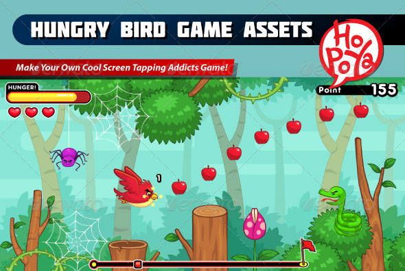 Hungry Bird Game Assets