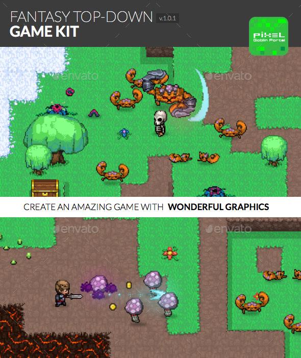 Fantasy Top-Down Game Kit