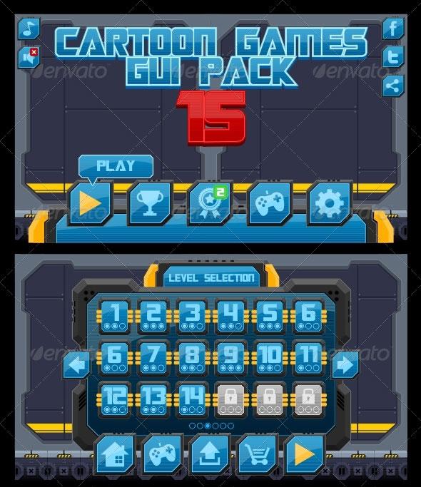 Cartoon Games GUI Pack 15