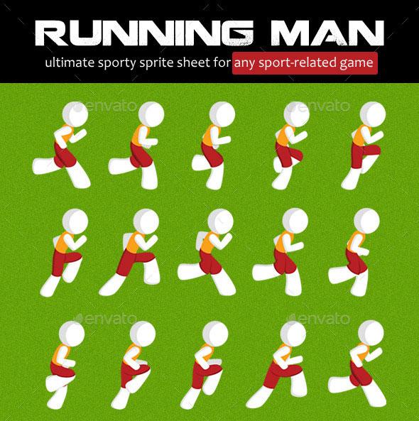 Running Man Sprite Sheet