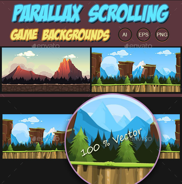Parallax Scrolling Game Backgrounds