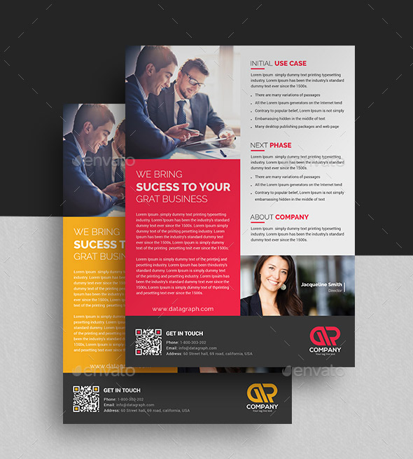 Case Study Template I Flyer