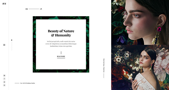 Ivy - Minima, Modern & Creative Portfolio PSD Template