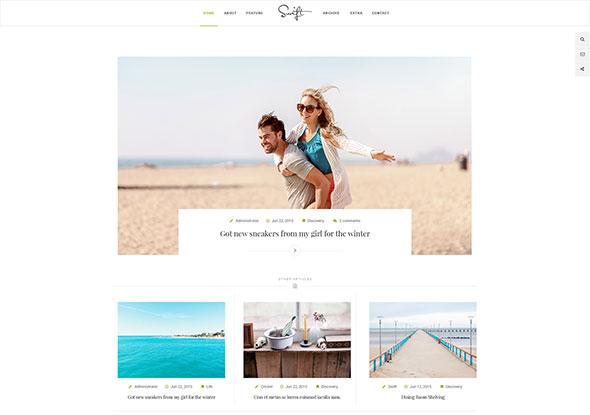Swift – Minimal Blog PSD Template