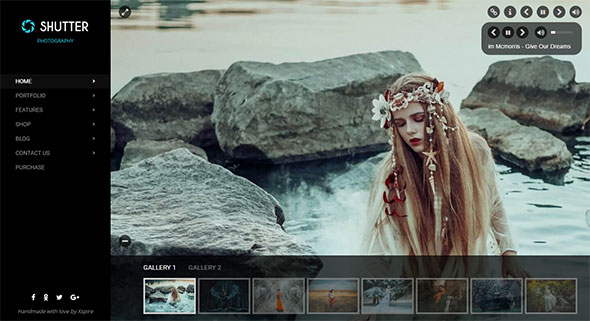 Shutter - Portfolio and Photography Powerful WordPress Theme