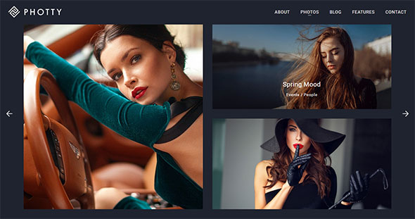 Photty - Photo Gallery & Photoblog WordPress Theme