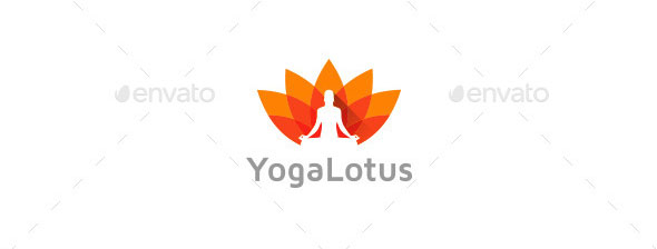 Yoga Lotus Logo Template