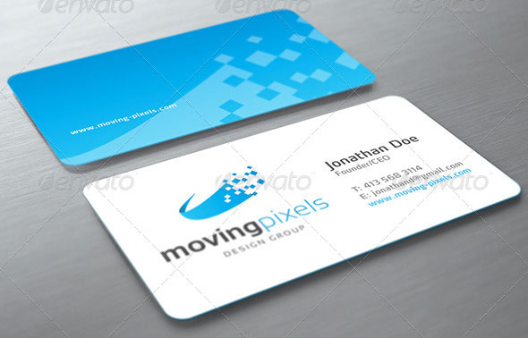Photorealistic Business Card Mockup Round Corners