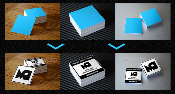 Square Business Card Mockups Vol. 1