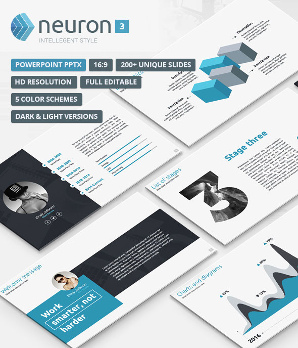 Neuron 3 - Modern PowerPoint Template