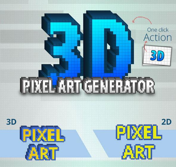 3D Pixel Art Generation