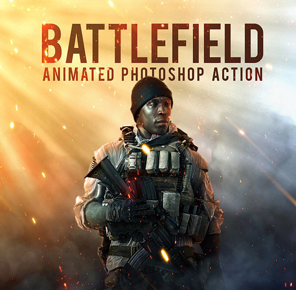 Battlefield - Animated Photoshop Action