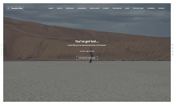 ResumeDojo - Resume and Portfolio WordPress Theme