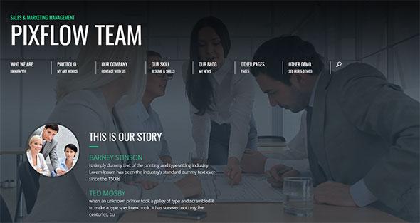 Promotion - Animated CV Resume Theme