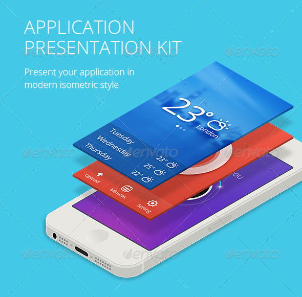 Application Presentation Mockup Kit