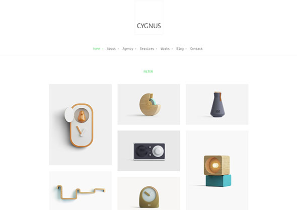 Cygnus - Clean and minimalistic portfolio theme