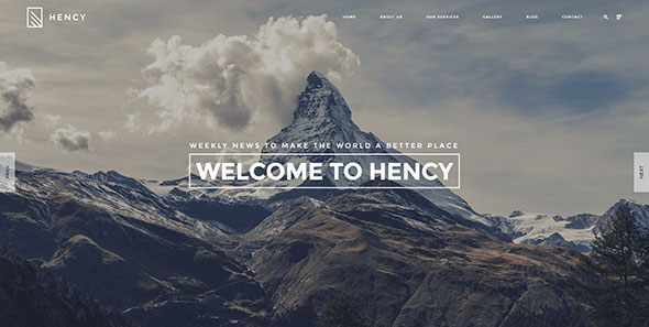 Hency - Modern Business Portfolio WordPress Theme