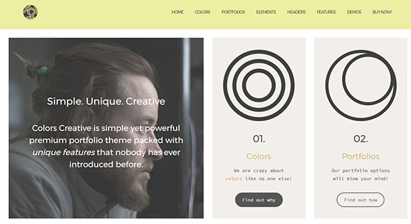 Colors Creative – Portfolio for Freelancers & Agencies