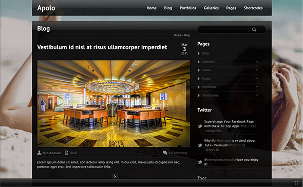 Apolo - Fullscreen Video & Image Background +Audio