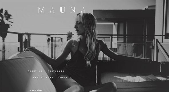 Mauna - full screen portfolio & agency theme