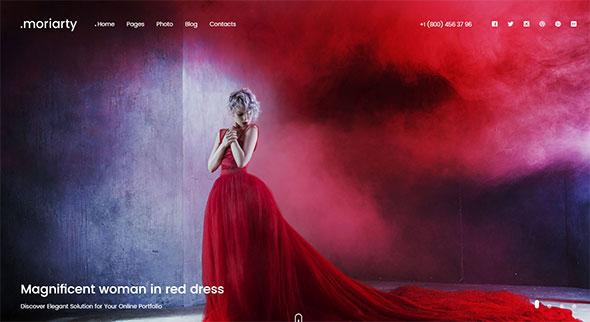 Fullscreen Photo WordPress Theme - Moriarty