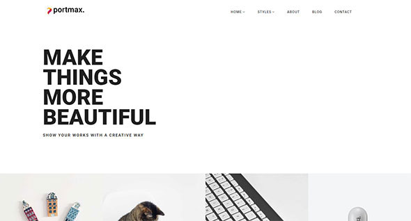 PortMax - Minimal Portfolio WordPress Theme