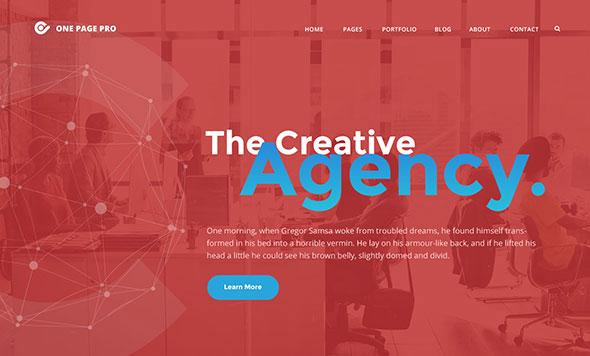 One Page Pro - Multi Purpose OnePage WordPress Theme