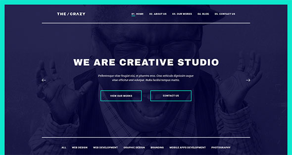 The Crazy - Creative Agency WP Template