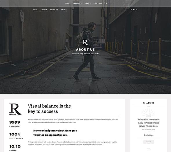 Regular - Writing, Content, Blog & Magazine Theme for WordPress