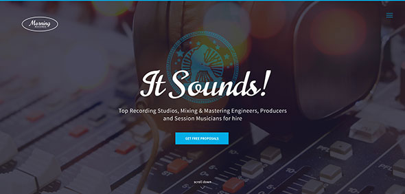 Morning Records - Sound Recording Studio WP Theme