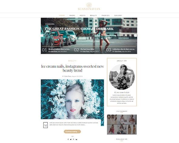 Scandinavian - Clean Fashion & Lifestyle Blog Theme