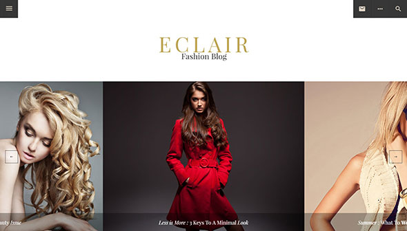 Eclair - Personal Crafted WordPress Theme