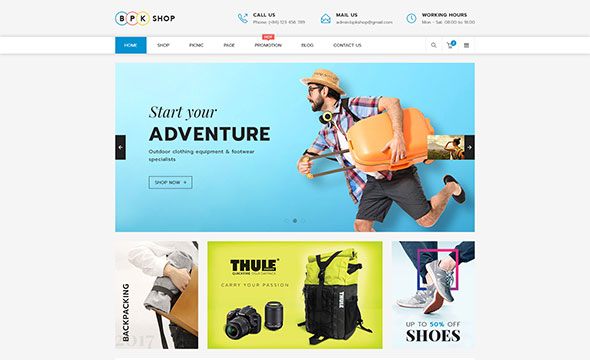 BPK Shop - WooCommerce Responsive  Theme