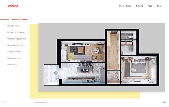 Attaché - Smooth & minimal portfolio WordPress theme
