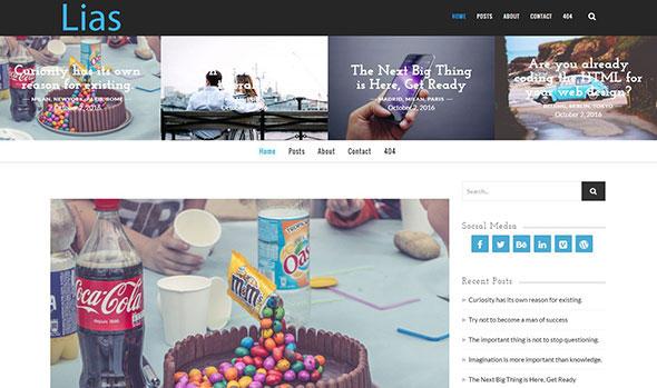 Lias - Minimal Creative Blog