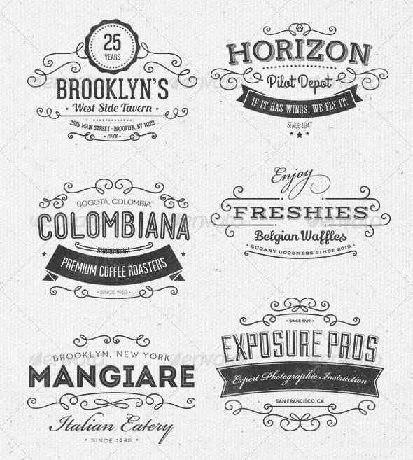 Ornamental Typographic Insignias | Logos