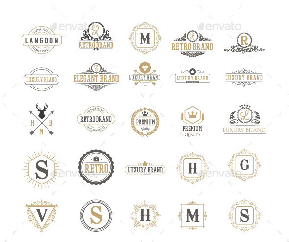Monogram and Vintage logos