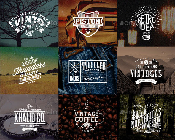 46 Badges and Logos Bundle
