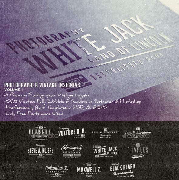 Photographer Vintage Insignias Volume 1