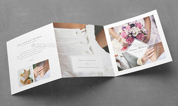 Photography Square Trifold Brochure Template