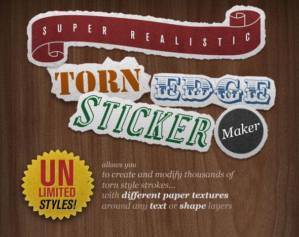 Torn Edge Sticker Maker
