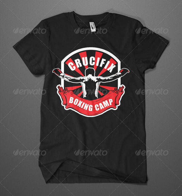 Boxing Camp T-Shirt Template