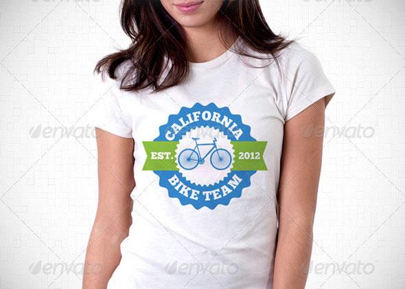 Bike Team T-Shirt Template