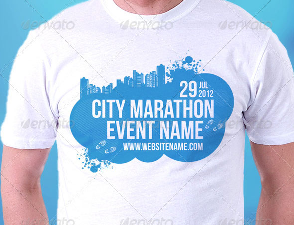 City Marathon Event Premium T-Shirt Template