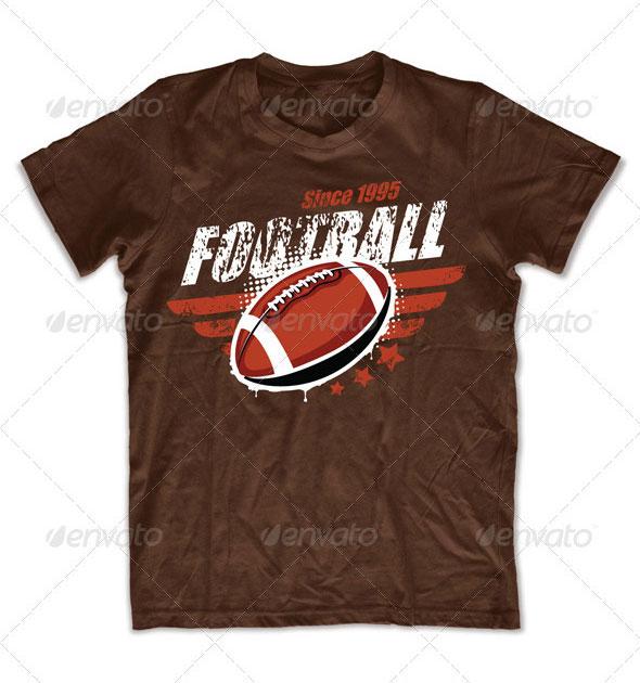 Grunge football T-shirt design